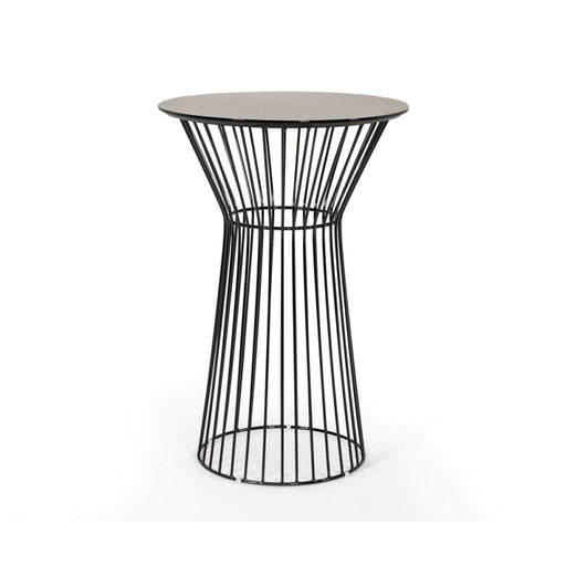 Graphite Platner Bar Table Black