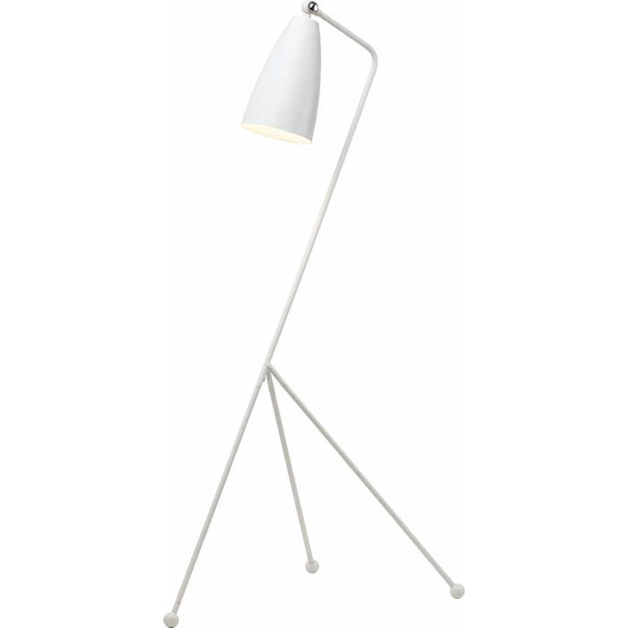 Grasshopper Modern Floor Lamp White