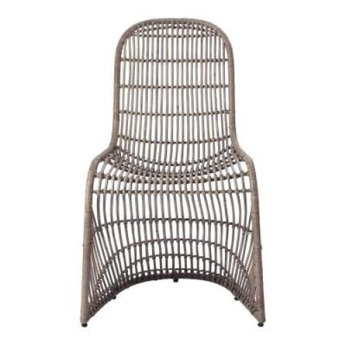 Groovy Rattan Chair-Gray Set of 2