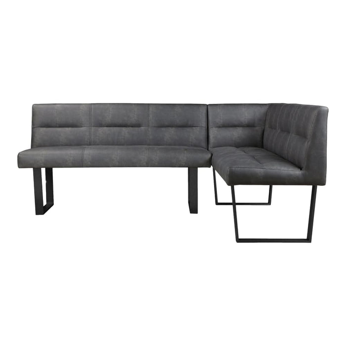 HANLON CORNER BENCH DARK GREY