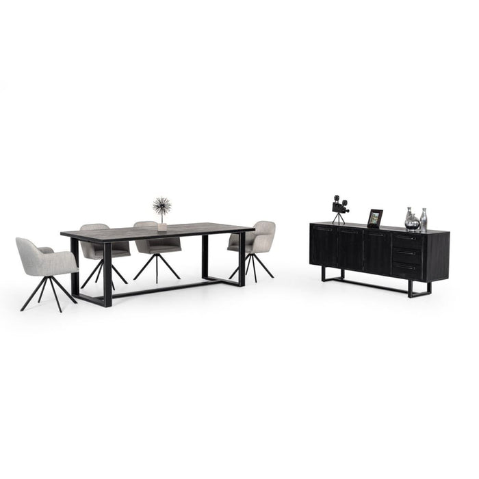 Hardy Modern Black Acacia Wood Buffet