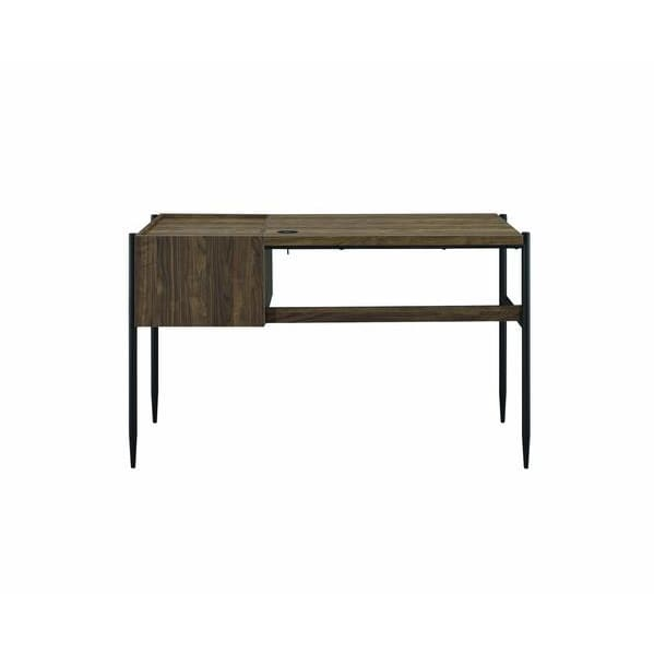 Harper 2 Drawer Wooden Writing Desk With Metal Tapered Legs