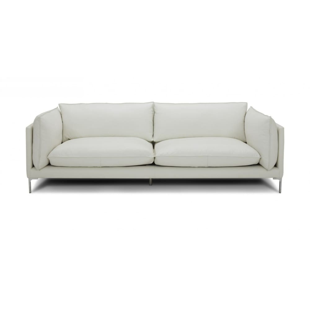 Harvest White Full Leather Sofa