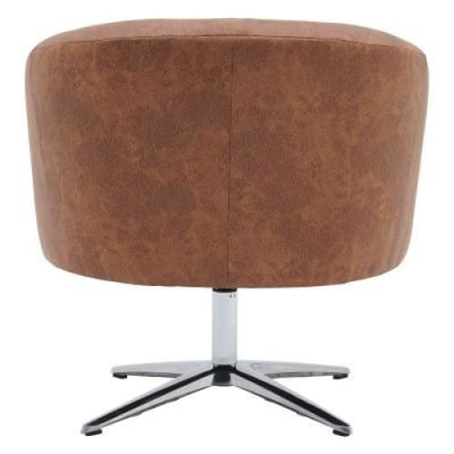 Holmes KD Fabric Swivel Chair Devore Cocoa