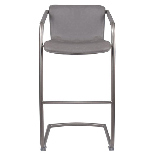 Indy PU Leather Bar Stool-Gray Set of 2