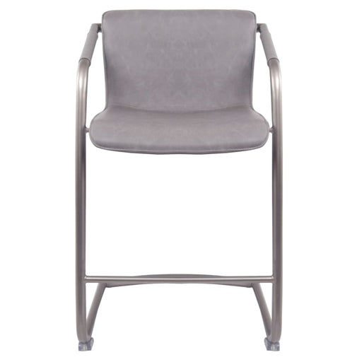 Indy PU Leather Counter Stool-Gray Set of 2