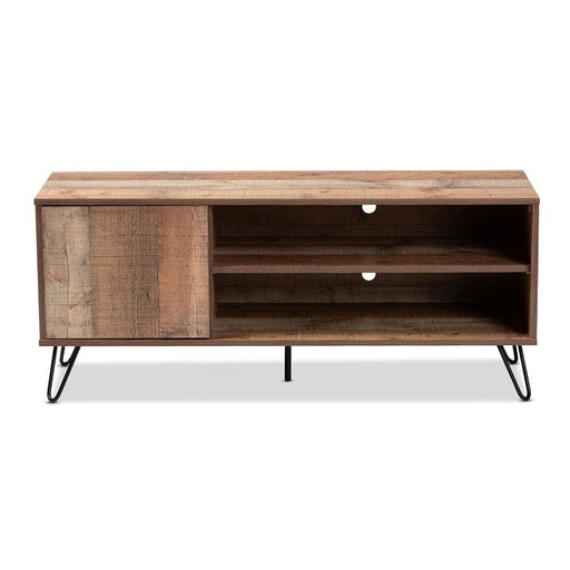 Irma Rustic Oak Finished TV Stand