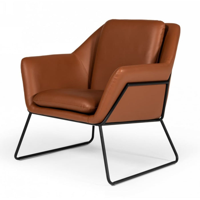 Jackson Industrial Brown Eco-Leather Accent Chair