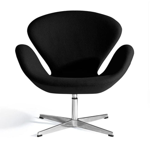 Jacobsen Swan Chair Black Pearl Fabric