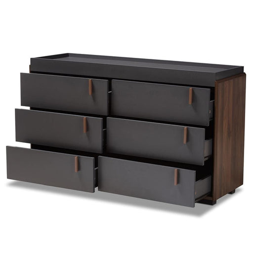 Japanese Suko Two Tone 6 Drawer Dresser