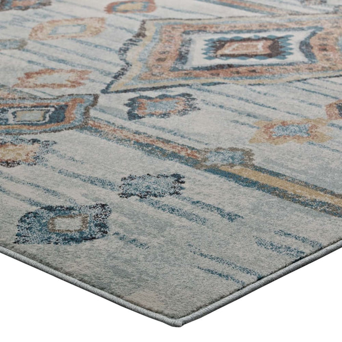 JENICA DISTRESSED MOROCCAN TRIBAL ABSTRACT DIAMOND 8X10 AREA RUG