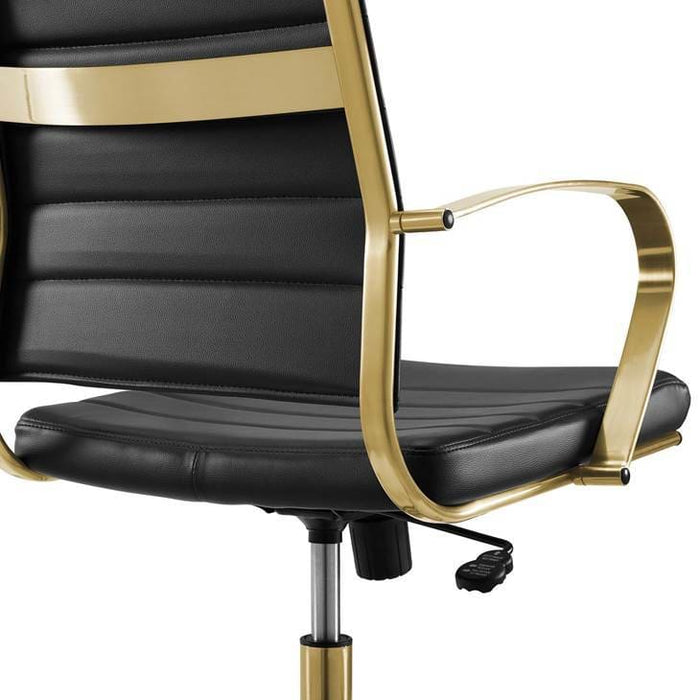 JIVE HIGHBACK OFFICE CHAIR BLACK AND GOLD