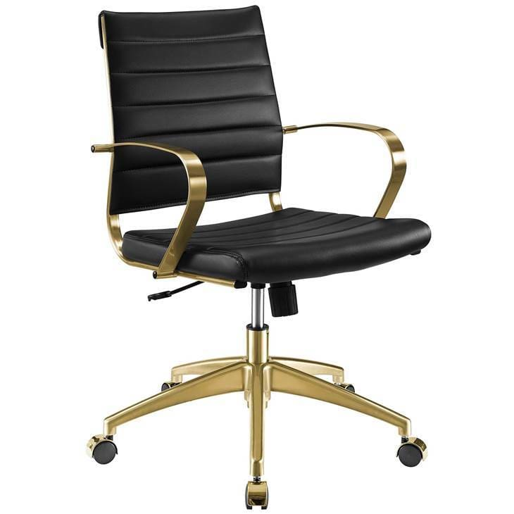JIVE MID BACK OFFICE CHAIR BLACK AND GOLD