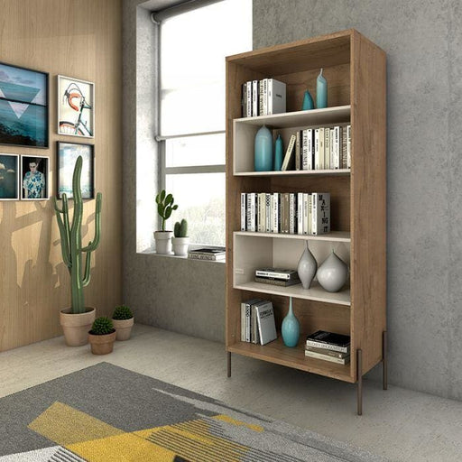 Joi 5-Shelf Bookcase Off White