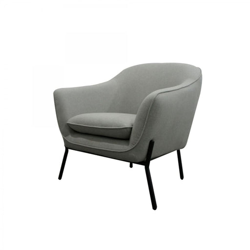Joiner Modern Grey Fabric Armchair
