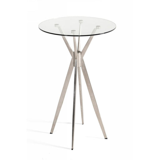 Kaitlyn Stainless Steel Bar Table