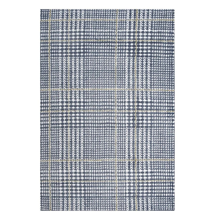 KAJA ABSTRACT PLAID 8X10 AREA RUG