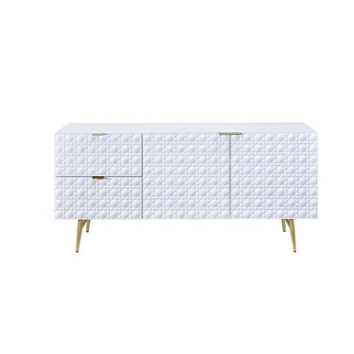 Kathy 2 Drawer TV Console Sideboard White