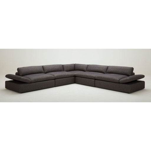 Kelsie Dark Grey Fabric Sectional Sofa