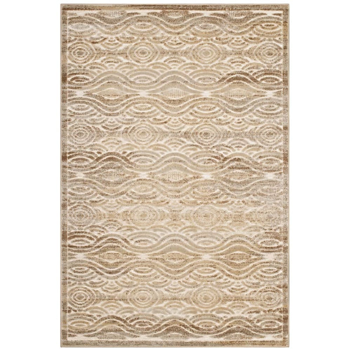 KENNOCHA RUSTIC VINTAGE ABSTRACT WAVES 8X10 AREA RUG