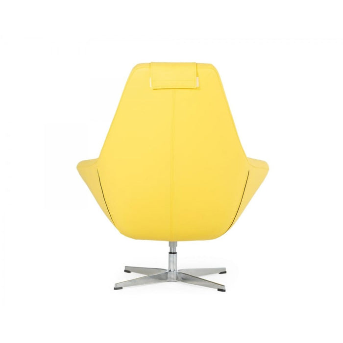 Kenora Yellow Eco-Leather Accent Chair