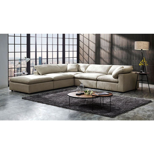 Kessler Modular Cream Fabric Sectional Sofa