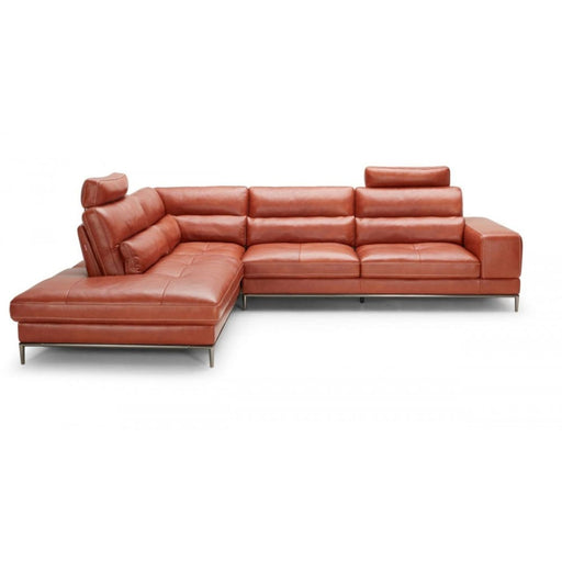 Kudos Cognac LAF Chaise Sectional Sofa