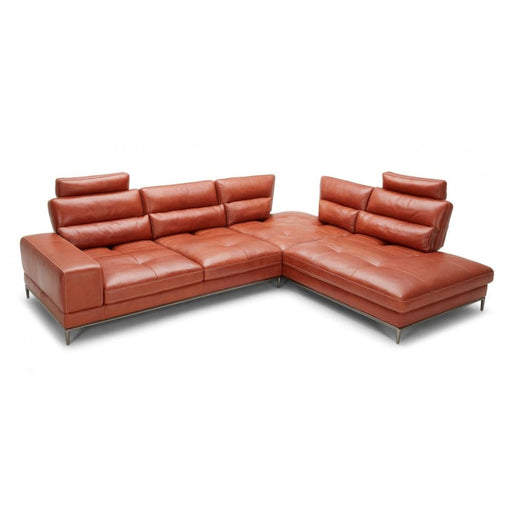 Kudos Cognac RAF Chaise Sectional Sofa