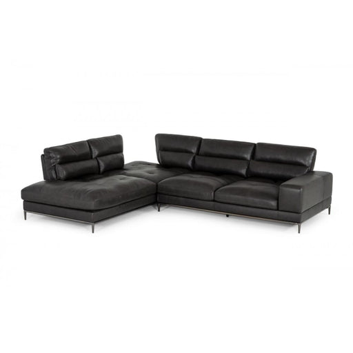 Kudos Dark Grey LAF Chaise Sectional Sofa