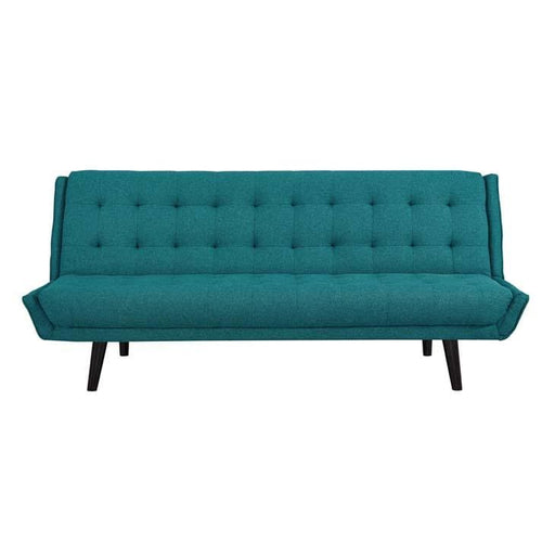 Lance Mid Century Convertible Sofa Teal