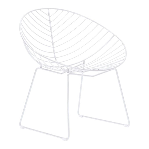 Leaf Outdoor Lounge Chair White Set of 2