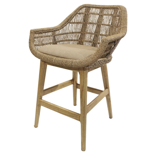 Leia Rattan Counter Stool-Natural