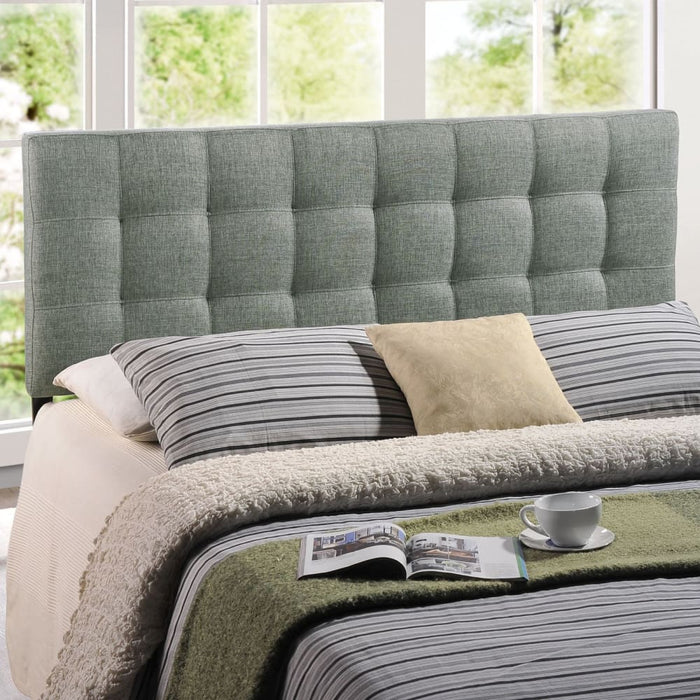 LILY QUEEN UPHOLSTERED FABRIC HEADBOARD