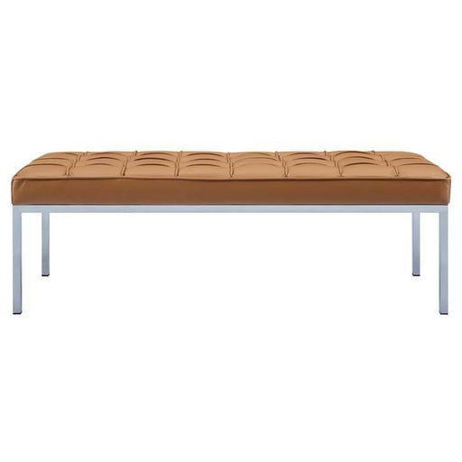 LOFT LEATHER BENCH TAN