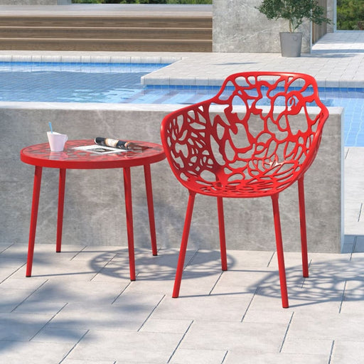 Lolita Aluminum Dining Armchair Red
