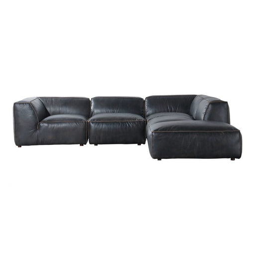 LUXE LOUNGE MODULAR SECTIONAL ANTIQUE BLACK