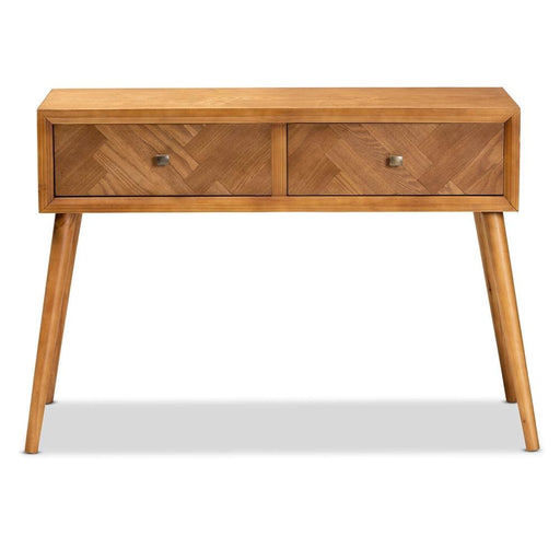 Macie Mid Century 2 Drawer Console Table