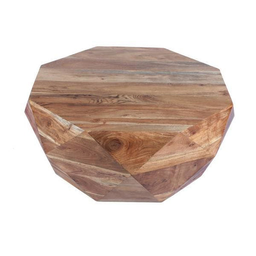 Mango Wood Geometric Coffee Table