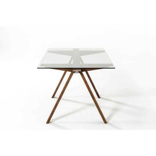 Maverick Glass Dining Table Walnut