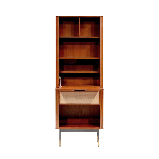 Maxwell 24 Cabinet in Brown with Natural Wicker