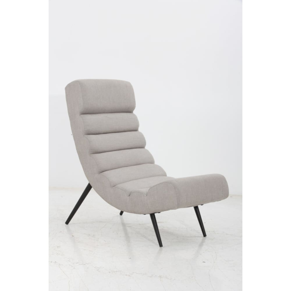 Melvin Modern Grey Fabric Accent Chair