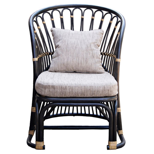 Meredith Rattan Accent Chair-Brown