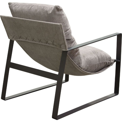 Miller Sling Lounge Chair Grey Fabric