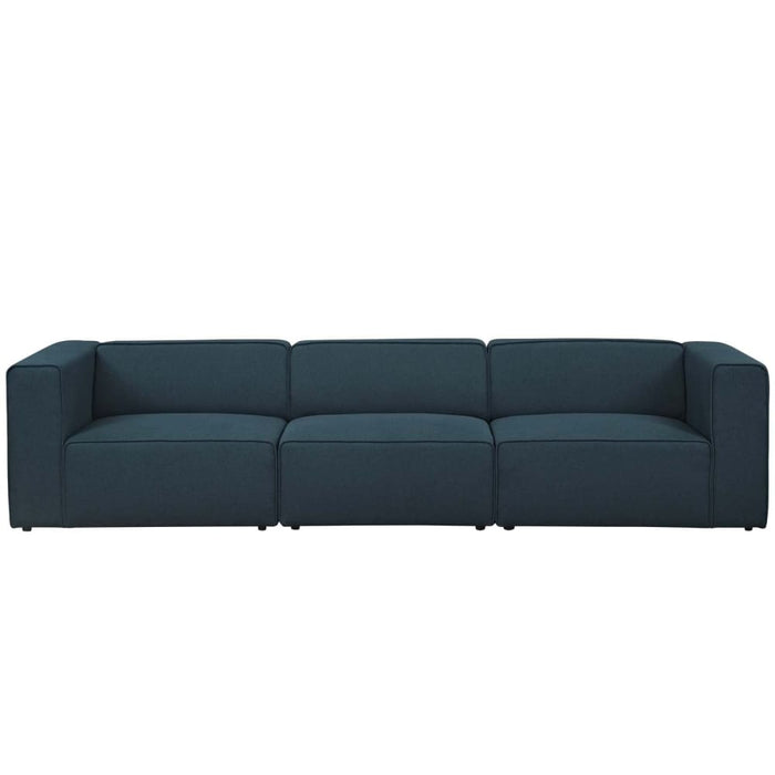 MINGLE 3 PIECE UPHOLSTERED FABRIC SECTIONAL SOFA SET
