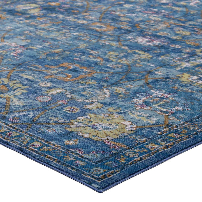 MINU DISTRESSED FLORAL LATTICE 8X10 AREA RUG