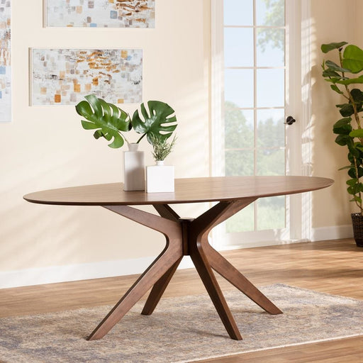Montreal 71 Oval Wood Dining Table