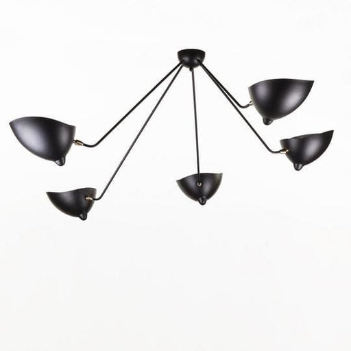Mouille Edition MCL-SP5 Spider Ceiling Lamp Black