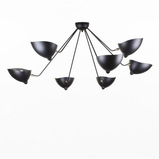 Mouille Edition MCL-SP7 Spider Ceiling Lamp Black