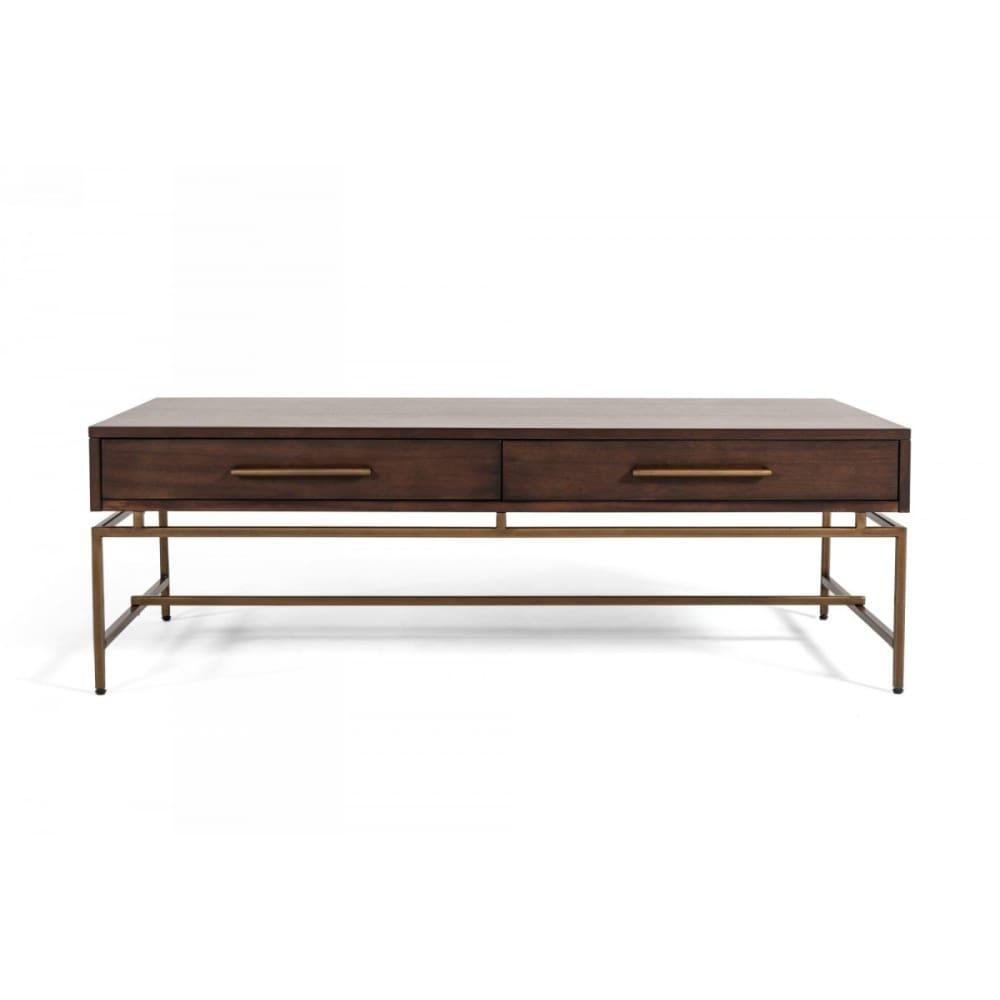 Nathan Acacia & Brass Coffee Table