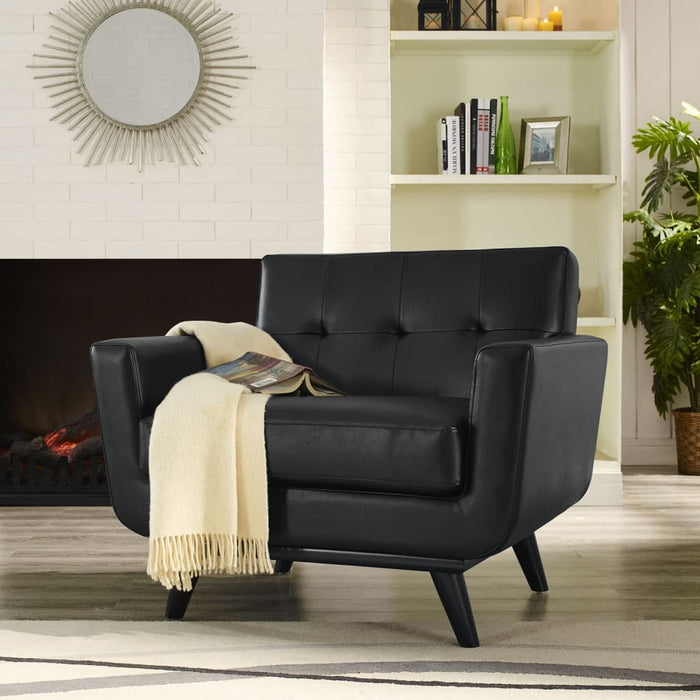 Nixon BONDED LEATHER ARMCHAIR